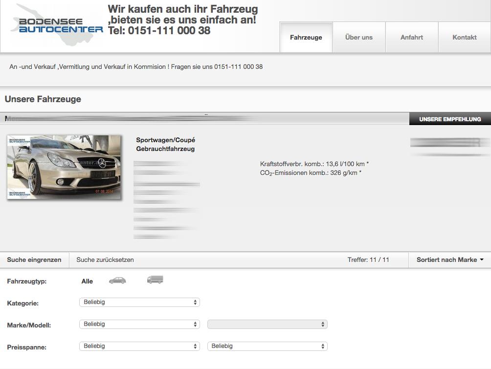 Unsere Autos auf mobile.de